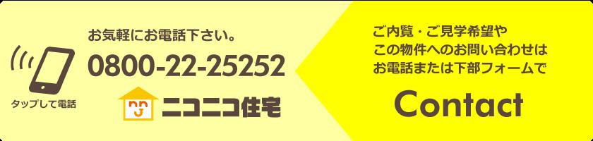 ニコニコ住宅長岡に電話
