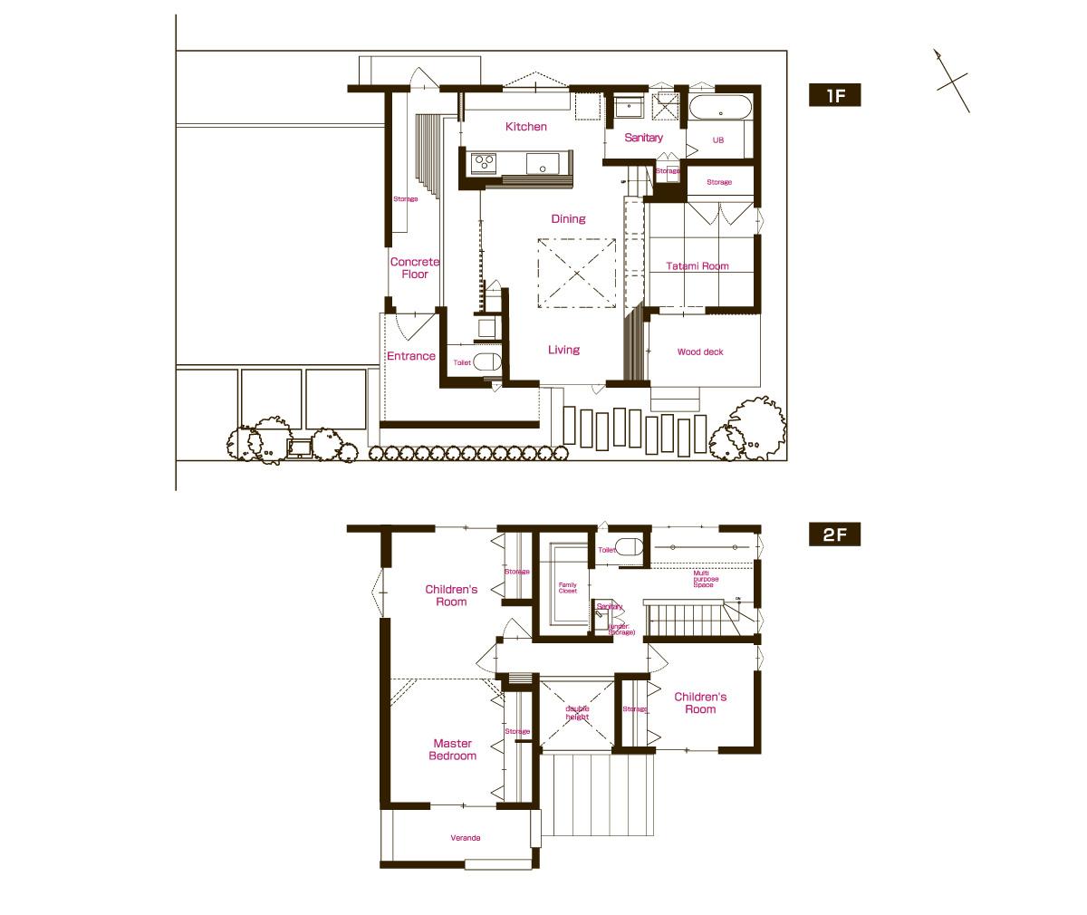 グリーンスタイルの建売住宅です。将来、間仕切って4LDKに。開放的なお家です。